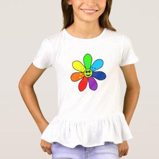 Rainbow Flower Ruffle T-Shirt (Child)