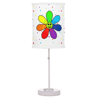 Rainbow Flower Table Lamp