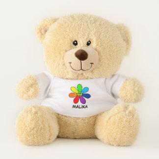 Rainbow Flower Teddy Bear