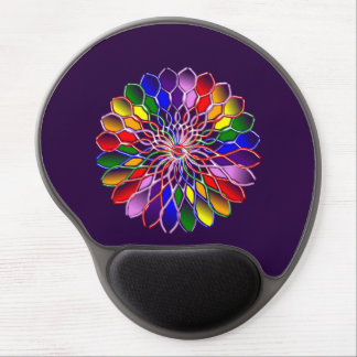Rainbow Floweret Ergonomic Gel Mousepad