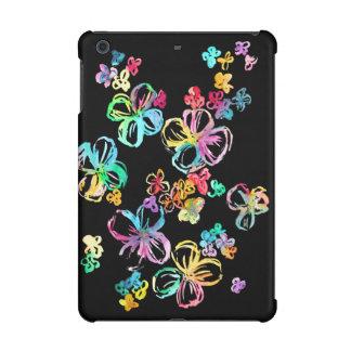 Rainbow Flowers on Black iPad Mini Retina Cases