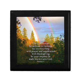 Rainbow Forest Christian Scripture Bible Verse Gift Box
