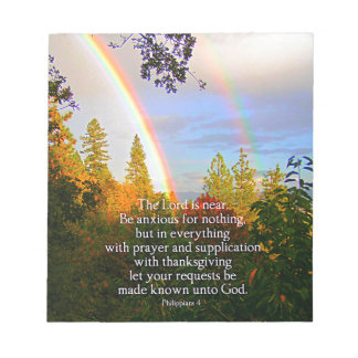 Rainbow Forest Christian Scripture Bible Verse Notepad
