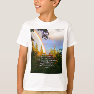 Rainbow Forest Christian Scripture Bible Verse T-Shirt
