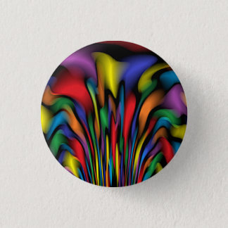 Rainbow Fountain 1 Inch Round Button