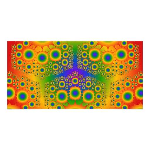 Rainbow Fractal Explosions: Custom Photo Card