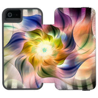 Rainbow Fractal Flower w/Zebra Stripes Incipio Watson™ iPhone 5 Wallet Case