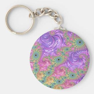 Rainbow Fractal Keychain