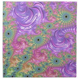 Rainbow Fractal Napkin