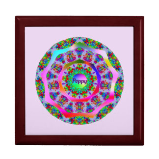 Rainbow Fractal Pattern ~ Personalised for POPPY ~ Gift Box