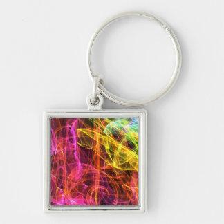 Rainbow Fractal Smoke Keychain