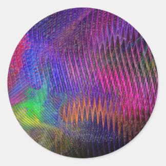 Rainbow Fractal Texture Sticker