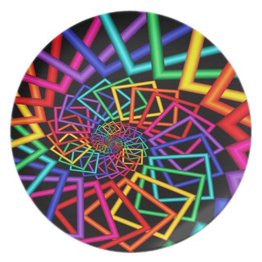 Rainbow Frames Melamine Plate