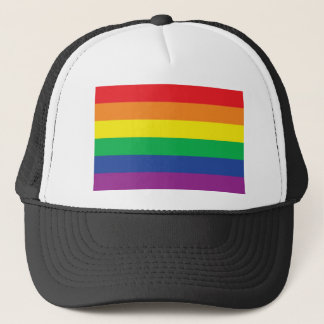 Rainbow  Freedom Gay Pride Flag Symbol Trucker Hat
