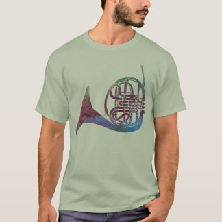 Rainbow French Horn T-Shirt