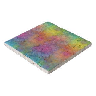 [Rainbow Frost] Multi-Colored Tie-Dye Trivet