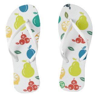 Rainbow Fruit Flip Flops