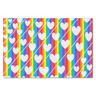 Rainbow Full of Hearts Tissue Paper