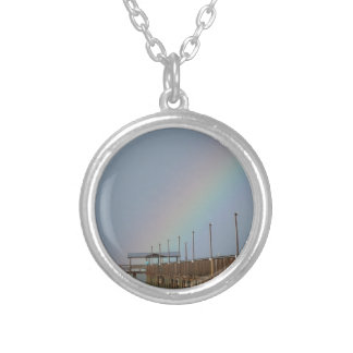 Rainbow, Fulton Fishing Pier Silver Plated Necklace