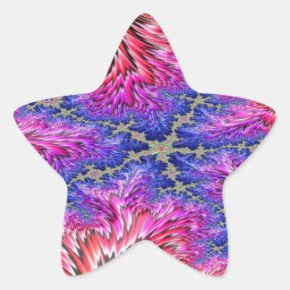 Rainbow Fusion Fractal 2 Star Sticker