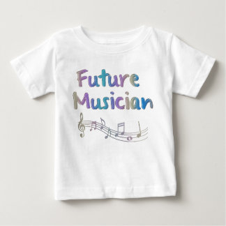 Rainbow Future Musician Musical Notes Kid's Tee