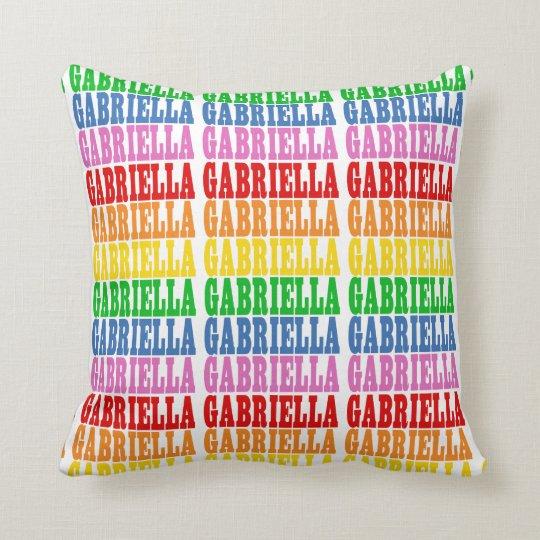 Rainbow Gabriella Throw Pillow