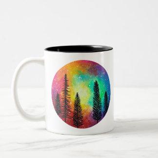 Rainbow Galaxy Coffee Mug - Rainbow Forest Mug