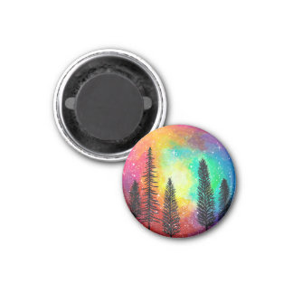 Rainbow Galaxy Magnet - Rainbow Forest Magnet