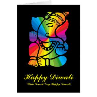Rainbow Ganesha Card