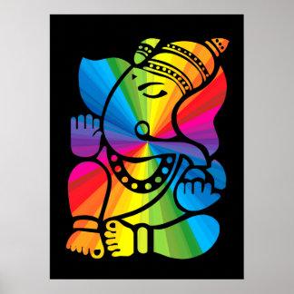 Rainbow Ganesha Posters