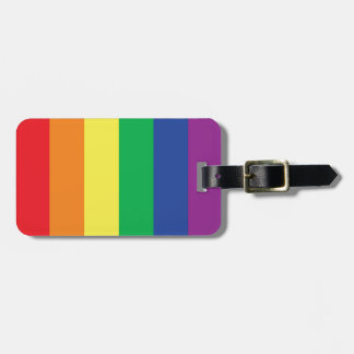 Rainbow Gay Freedom Pride Flag Symbol Luggage Tag