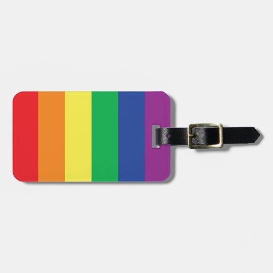 Rainbow Gay Freedom Pride Flag Symbol Luggage Tag