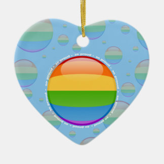 Rainbow Gay Lesbian Pride Bubble Flag Ceramic Ornament