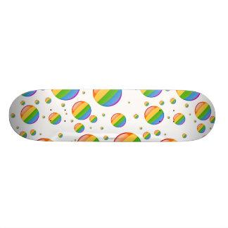 Rainbow Gay Lesbian Pride Bubble Flag Skate Board Decks