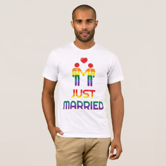 Rainbow Gay Marriage T-Shirts For Men Married