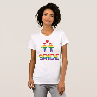 Rainbow Gay Marriage T-Shirts For Women
