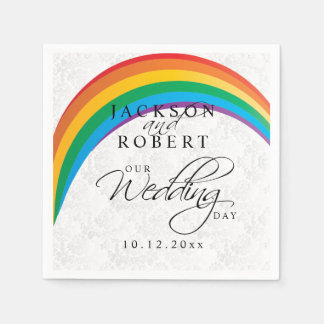 Rainbow Gay - Our Wedding Day Paper Napkin