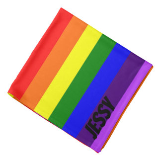 Rainbow Gay Pride Bandanna Custom Name LGBT