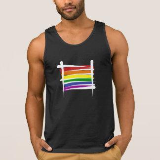Rainbow Gay Pride Brush Flag