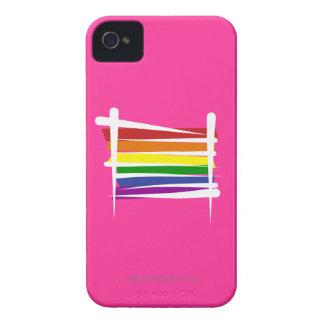 Rainbow Gay Pride Brush Flag iPhone 4 Cover
