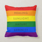 RAINBOW GAY PRIDE FLAG QUOTE | PILLOW