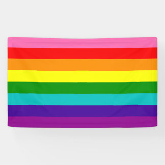 Rainbow Gay Pride LGBT Original 8 Stripes Flag Banner