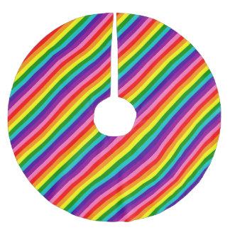 Rainbow Gay Pride LGBT Original 8 Stripes Flag Brushed Polyester Tree Skirt