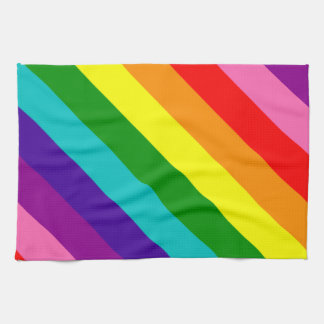Rainbow Gay Pride LGBT Original 8 Stripes Flag Kitchen Towel