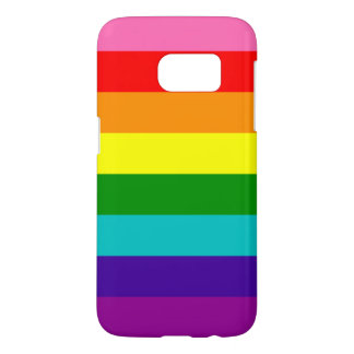 Rainbow Gay Pride LGBT Original 8 Stripes Flag Samsung Galaxy S7 Case