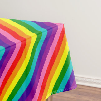 Rainbow Gay Pride LGBT Original 8 Stripes Flag Tablecloth