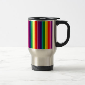 Rainbow Gay Pride LGBT Original 8 Stripes Flag Travel Mug