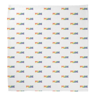 Rainbow Gay Pride On White Bandana