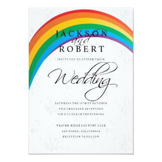 Rainbow Gay Wedding Invitation