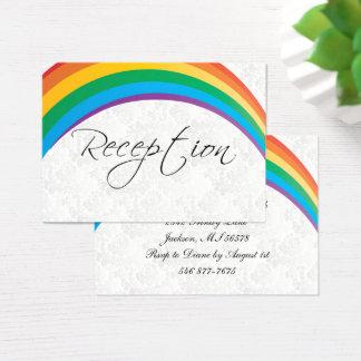 Rainbow Gay Wedding - Reception Business Card
